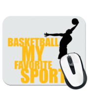 Коврик для мыши Basketball my favorite sport