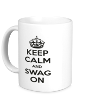 Кружка Keep calm and swag on