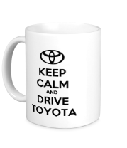 Кружка Keep calm and drive Toyota