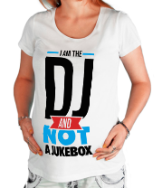 Футболка для беременных I am the DJ