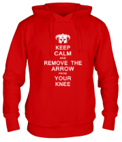 Толстовка Keep Calm And remove the arow