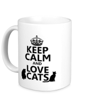 Кружка Keep calm and love cats.