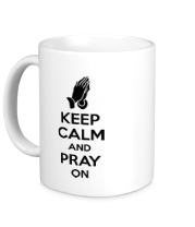 Кружка Keep calm and pray on