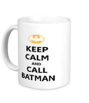 Кружка Keep-calm and call batman.