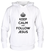 Толстовка Keep calm and follow Jesus.
