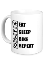 Кружка  Eat sleep bike repeat
