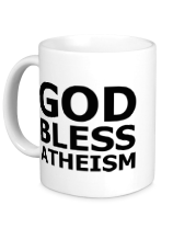 Кружка God bless atheism