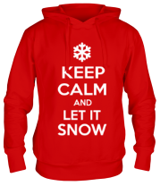 Толстовка Keep calm and let it snow
