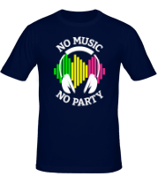 Футболка No music - no party