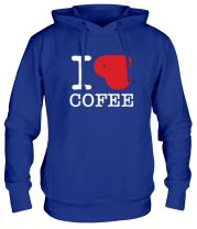 Толстовка I love coffee (with cup)