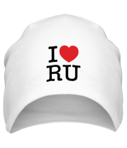 Шапка I love RU (vertical)