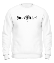 Толстовка без капюшона Black Sabbath text with logo