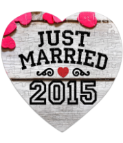 Пазл Сердце 75 элементов Just married 2015