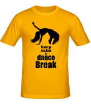 Футболка Keep_calm & dance break woman