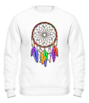 Толстовка без капюшона Dreamcatcher Rainbow Feathers