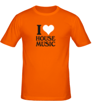 Футболка I love house music
