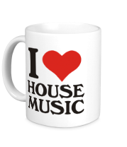 Кружка I love house music