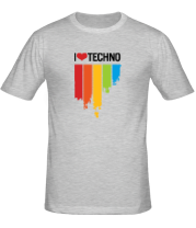 Футболка I love techno