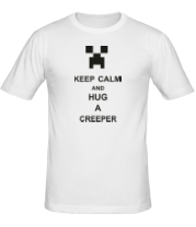 Футболка keep calm and hug a creeper