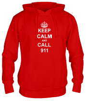 Толстовка Keep calm and call 911